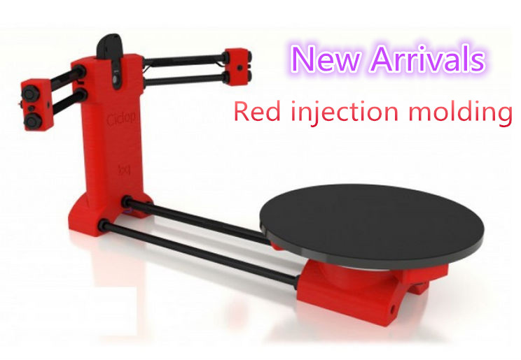 HE3D 3d scanner DIY kit NEW red injection molding Reprap 3d Open source Portable 3d scanner