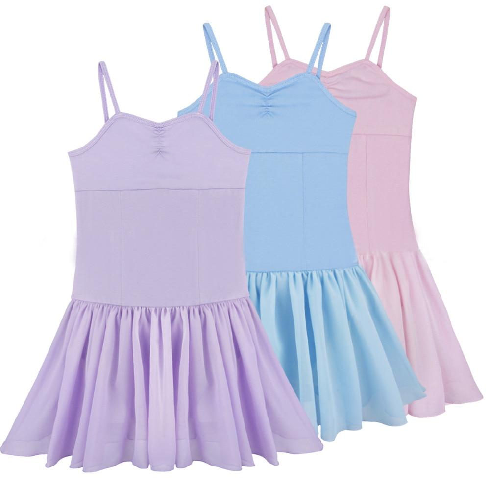 Pink/Blue/Purple Summer Ballet Gymnastic Dress For Girl Ballerina Dress Kids Cotton Ballet Dance Costume Ballet Clothes Children