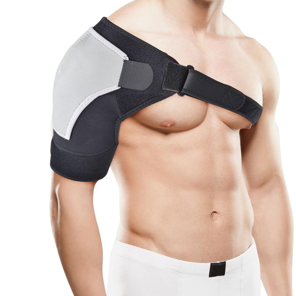 купить Neoprene Shoulder Dislocation Injury Arthritis Pain Injury Support Strap Brace Belt Left/Right Shoulder Bandage Protector по цене 652.1 рублей