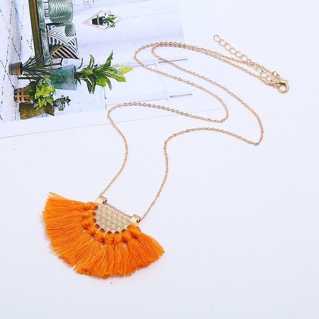 Ожерелье naomy & zp с кисточками для женщин ожерелье кулоном