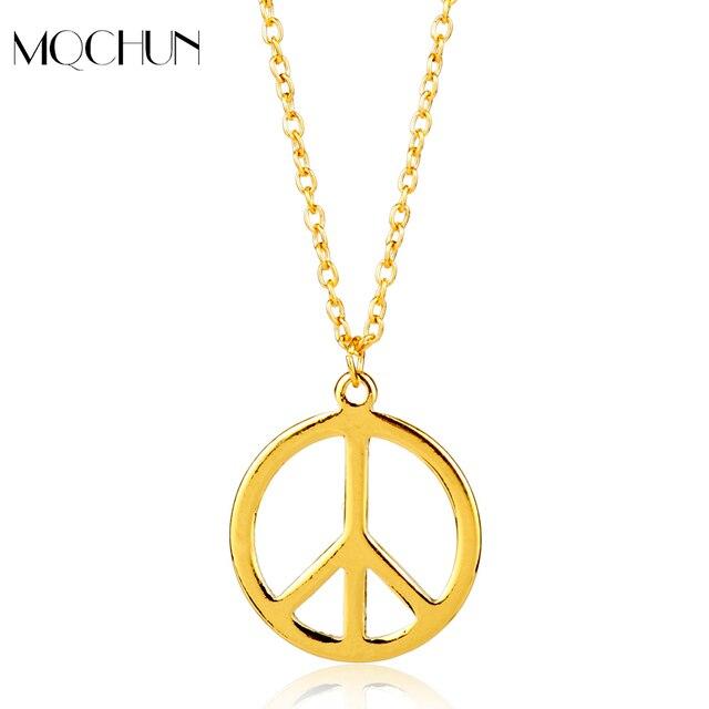 Mqchun hot sale special meaning anti war pendnat necklace gold color mqchun hot sale special meaning anti war pendnat necklace gold color peace sign pendant aloadofball Choice Image