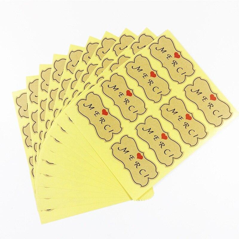 400 шт./лот крафт с красный сердце печать Стикеры kraft Бумага Наклейки домашний хлебобулочных и подарок Скрапбукинг label