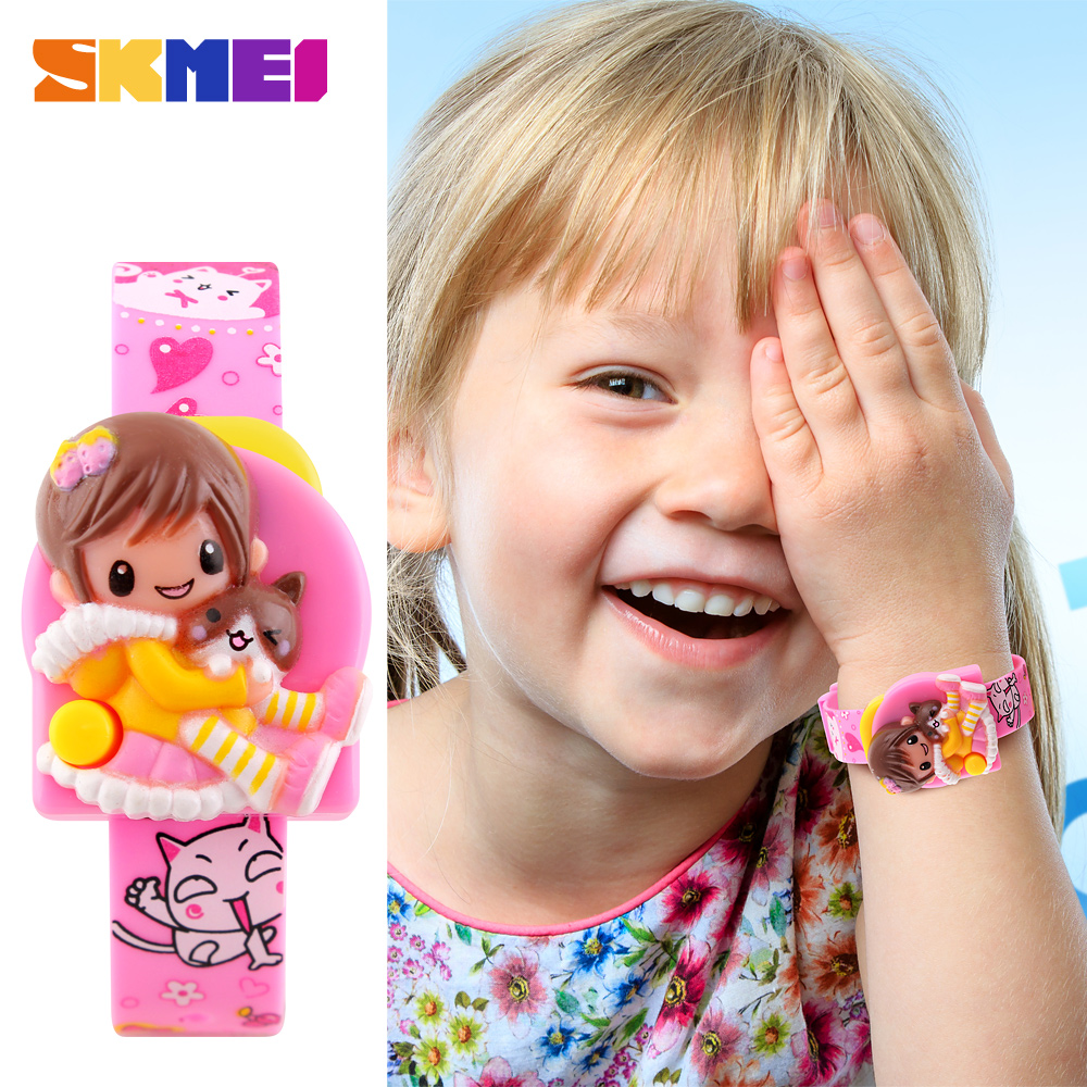 SKMEI Brand Children Watch Cute Kids Watches Digital Sports Relojes Mujer Girls Fashion Kids Cartoon Watch Relogio Feminino