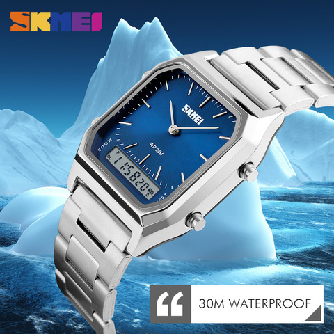 SKMEI Fashion Casual Watch Men Digital Dual Time Sports Chronograph 3bar Waterproof Quartz Wristwatches relogio masculino 1220 Islamabad