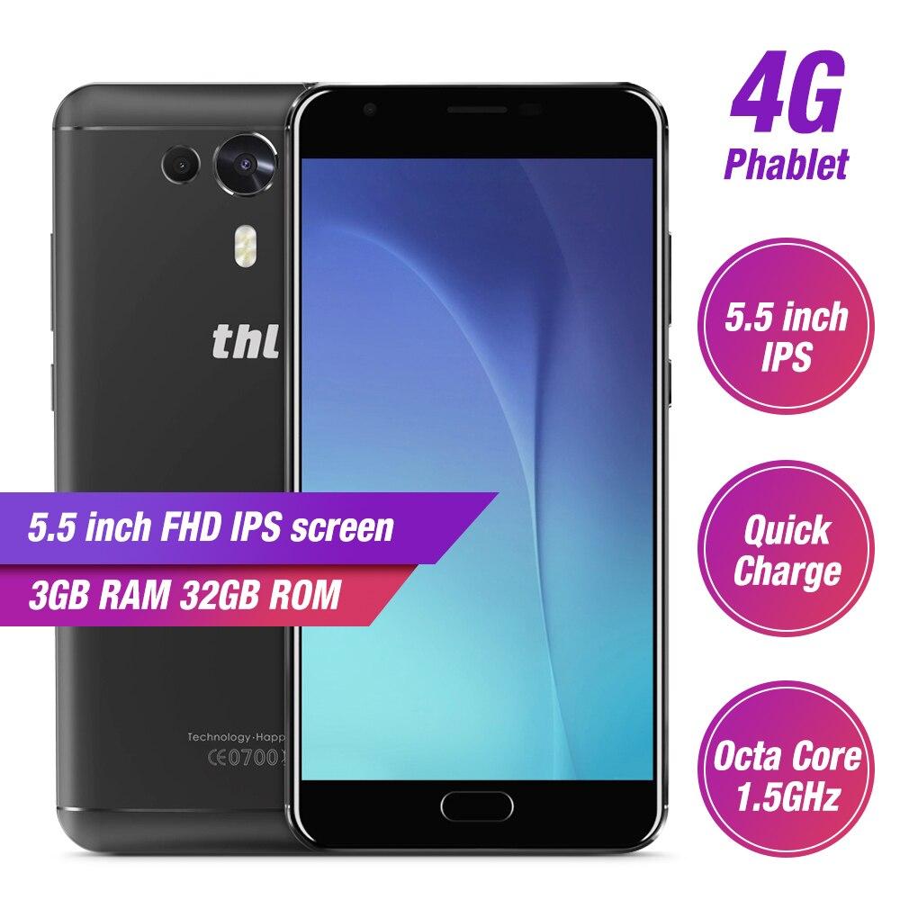 THL Knight 1 4G Smartphone 5.5 pouces FHD Android 7.0 MTK6750T Octa Core 3 GB RAM 32 GB ROM 13MP téléphone portable à empreinte digitale