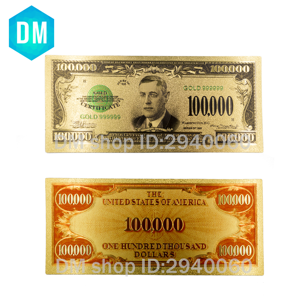 1934 years usa 24k gold banknotes gold plated us one for 200 thousand dollar homes