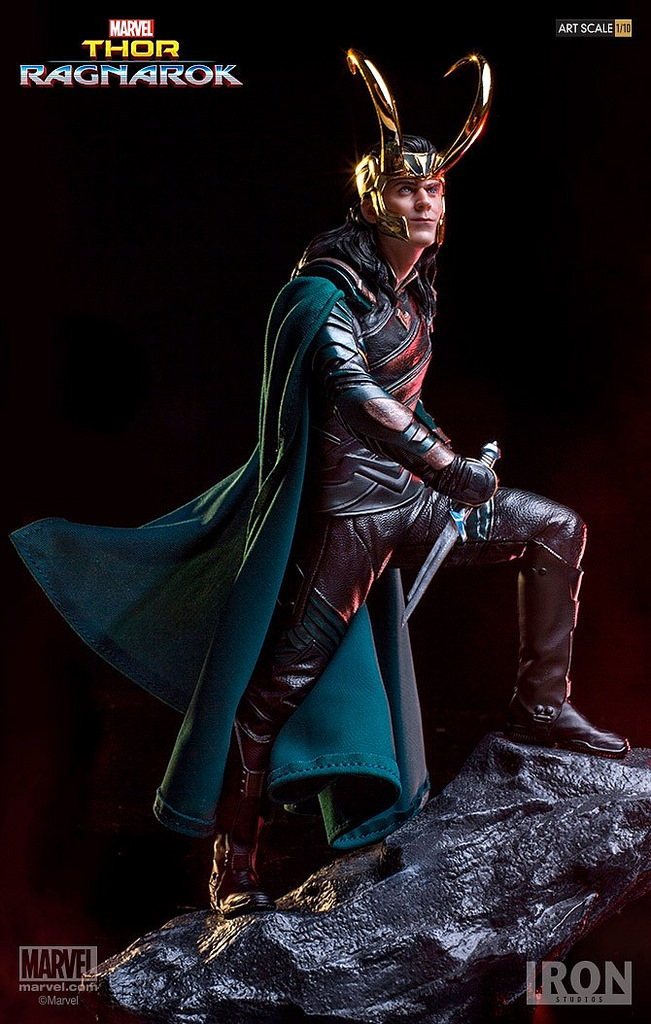 Vogue Loki Laufeyson Odinson Statue Marvel Super Hero Film Thor Ragnarok Le Avengers 25 cm Studios Fer Figure Figurine Jouets