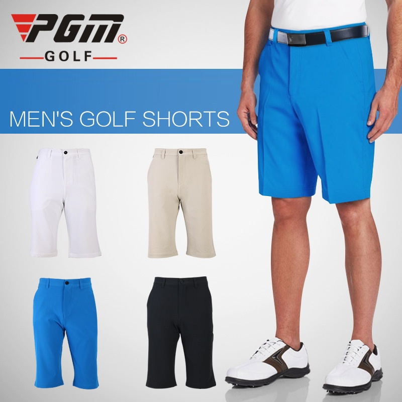 Pgm Men Golf Shorts Sport Leisure Shorts Belt Solid Color Soft Elastic Trousers Breathable Summer Shorts Golf Clothing AA11851