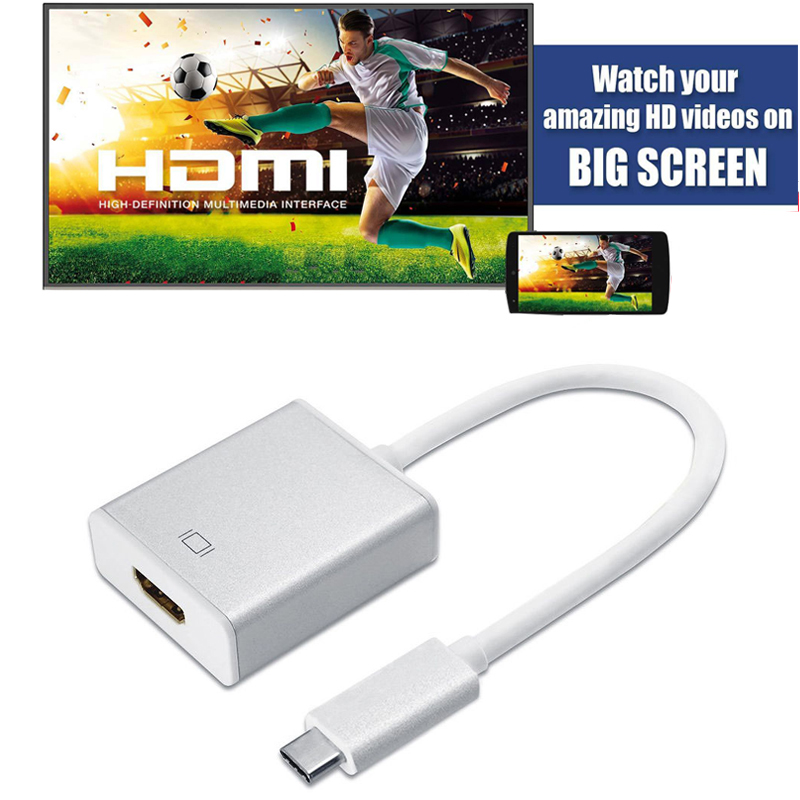 USB 3.1 Type C to HDMI Adapter 4k HD Video for Macbook Samsung galaxy S8 S8 Plus Note 8 LG G5 HTC Ultra M10 to TV Projector etc. new usb 3 1 type c usb c to hdmi 4k tv video hdtv av adapter cable for macbook huawei matebook samsung galaxy s8 s8 plus lg g5