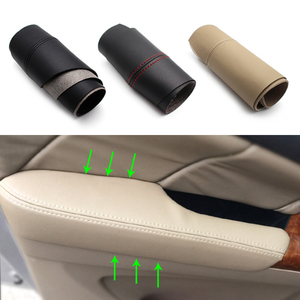 Image 1 - Panel de manija de puerta para coche, apoyabrazos, cubierta de cuero de microfibra, para Honda Odyssey 2004 2005 2006 2007 2008 2 unids/set