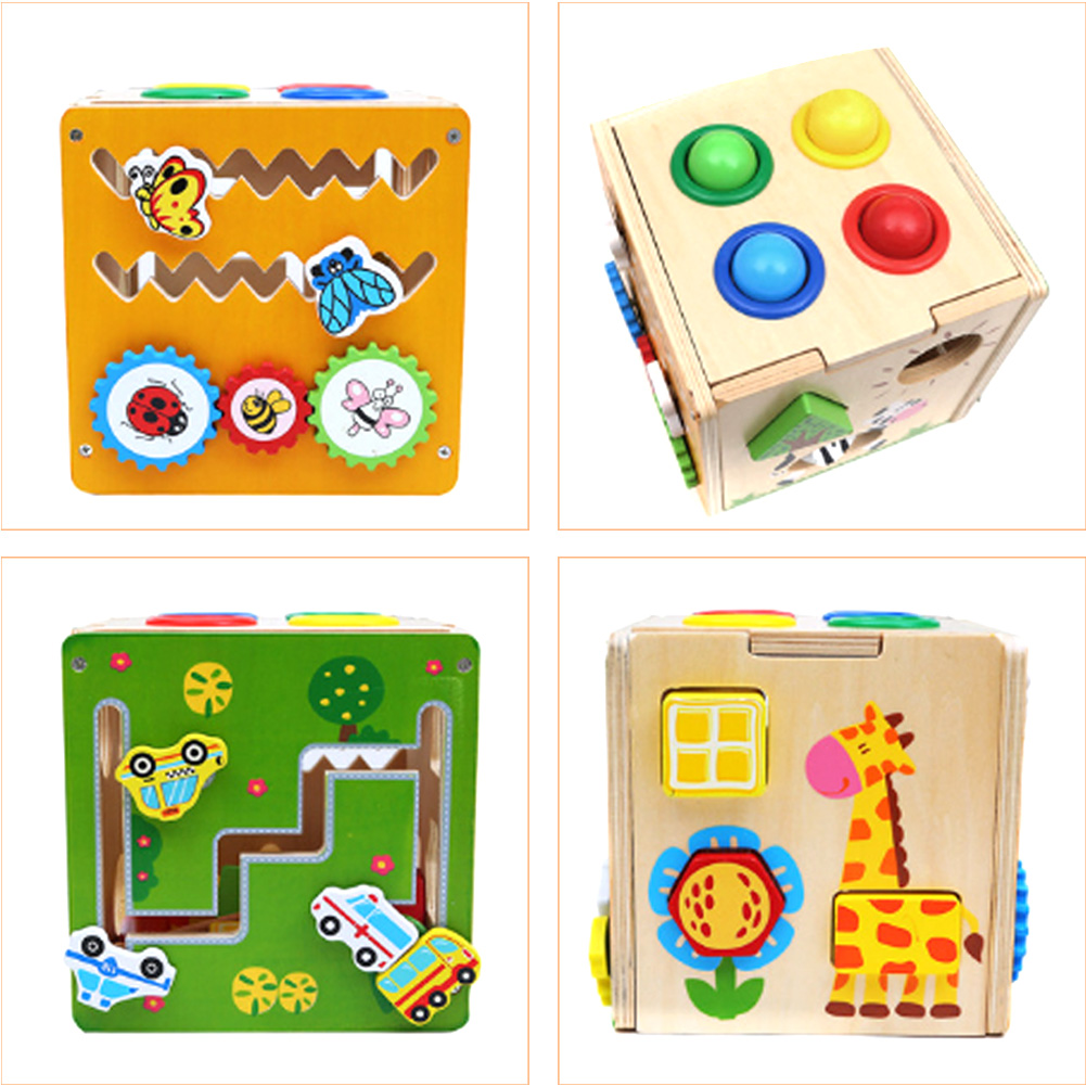 Wooden Geometric Logic Puzzles Board Hammering Ball Box Hammer Playing Hamster Children Early Learning Educational Toy ball run track game toy wooden puzzles diy mini tree baby kids education puzzles fun kids toys m3011