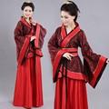 2017 Hmong Ancient Chinese Costume Women Clothes Robes Traditional Beautiful Hanfu Dance Costumes Sobretudo Feminino Dress