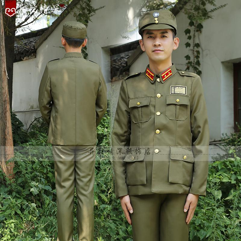 Chinese TaiWan Kuomintang Military Officer Spy Togae Asian Vietnam Soldier Stage Film TV Clothes Spy Uniform Republic Of China