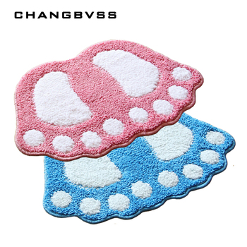 цена на Hot Selling Footprint Floor Carpet For Bathroom Mat,Anti-skid mats,banyo paspas takimlari,Rugs For Bath Room,Mat in the Toilet