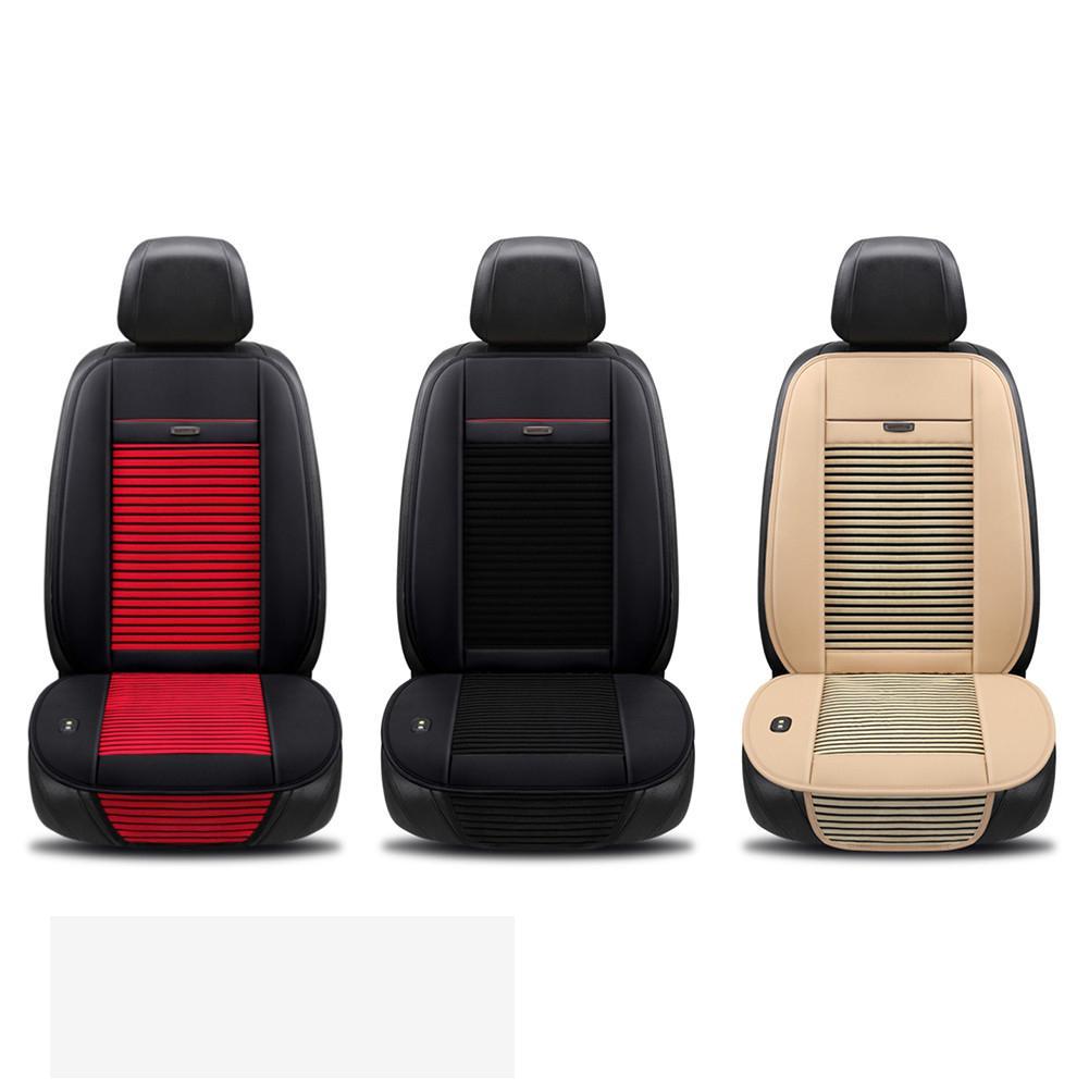 Nouveau été voiture Ventilation coussin froid Air conditionné respirant glace soie réfrigération coup ventilateur siège universel 12 V Cool Pad