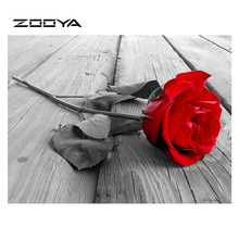 ZOOYA 5d DIY Diamond Painting Red Rose Embroidery Full Pack 3D Kit Mosaic Decorative Rhinestones Decor RY004
