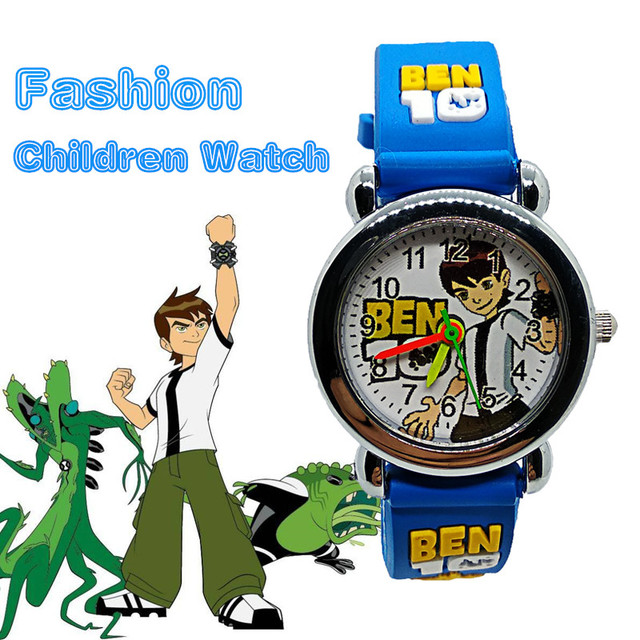 Children Watch Cartoon Ben 10 Quartz Kids Watches Spiderman Child Wristwatches F