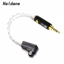 Haldane 4 Cores Silver Plated 4pin RSA/ALO Balanced to 2.5mm TRRS Balanced Male Audio Adapter Cable For SR71 SR71B RXMK3 SOLO flat 4 conductor trrs 3 5mm audio male to male connection cable black golden 100cm