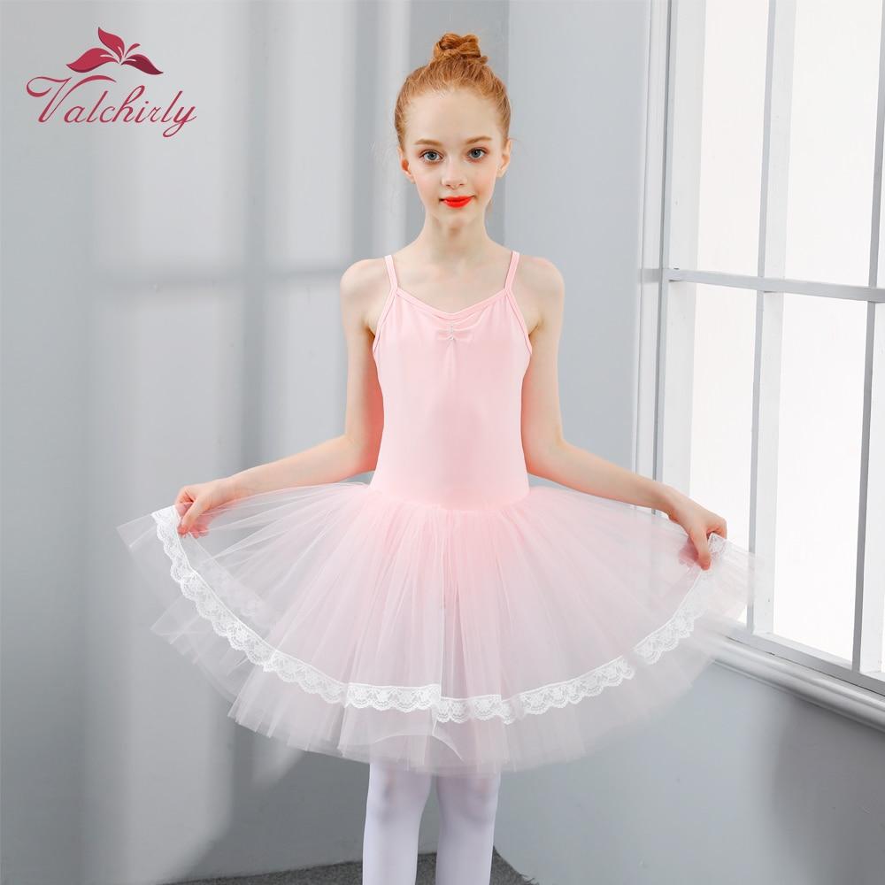 Ballerina Dress Kids Lyrical Dance Costumes Ballet Skirt For Girls Pink Ballet Dress