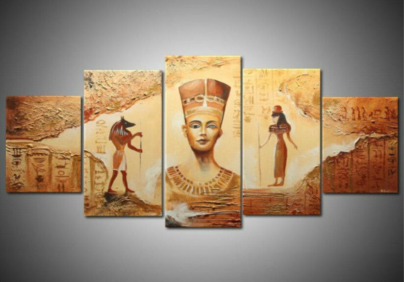 Unframed] Ancient Egyptian Abstract Art Canvas Painting Prints Wall ...