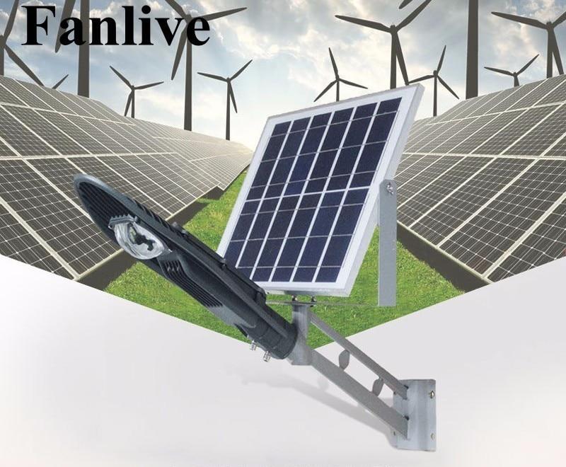 все цены на 10pcs Remote Control Solar Panel Powered Road Light 20W 30W 50W LED Street Light Outdoor Garden Path Spot Wall Emergency Lamp