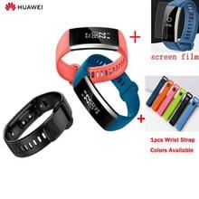 Oryginalny Huawei Band 2 pro B29 B19 opaska na rękę dla monitora Fitness 50 m pływać wodoodporna Bluetooth OLED pasek dla człowieka kobieta