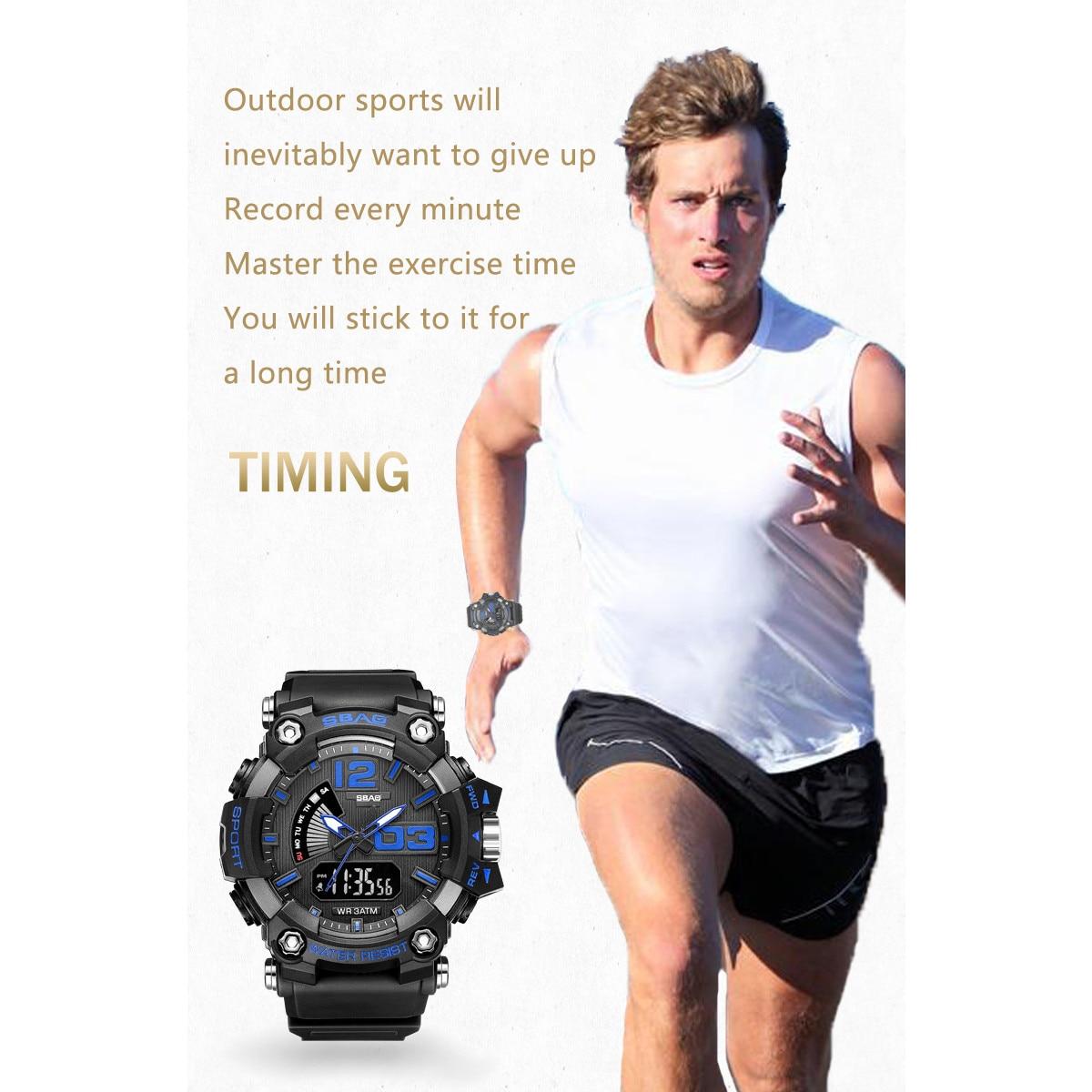 Clock Sbao Electronic-Watch Multi-Functional Military Outdoor Sports Waterproof Men Fashion