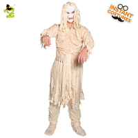 QLQ Men's Ghost Halloween Costume Cosplay Party Mummy Costumes Male Ghost Men Mummy Full Bodysuit Costume Role Play Costumes