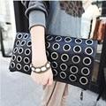 2016 New Fashion Women Bag Designer Handbags High Quality Punk Rivet Metal Circle Shoulder Bag Cross-body Purses and Handbags
