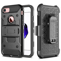 For Apple IPhone 5 5S SE Steel Clamp Heavy Duty Advanced Armor Belt Clip Holster With