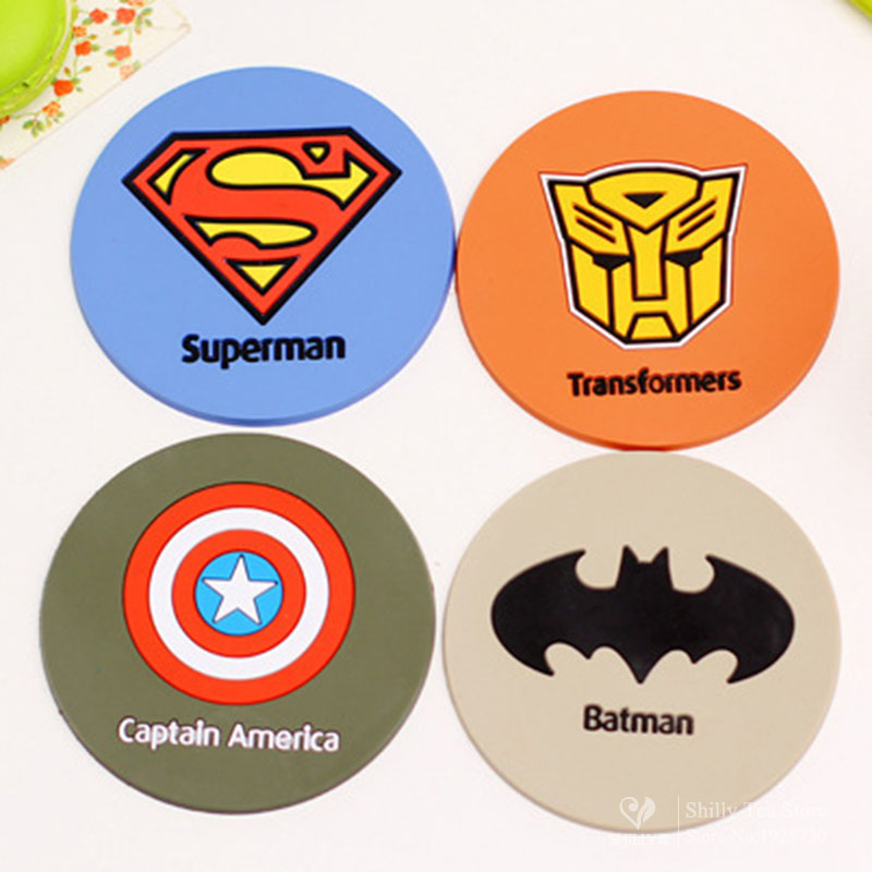 Aliexpress.com : Buy Superman Silicone Dining Table Placemats Coaster  Coffee Cups Drinks Kitchen Accessories Cup Bar Mug Placemats Coaster Mats  Pads From ...