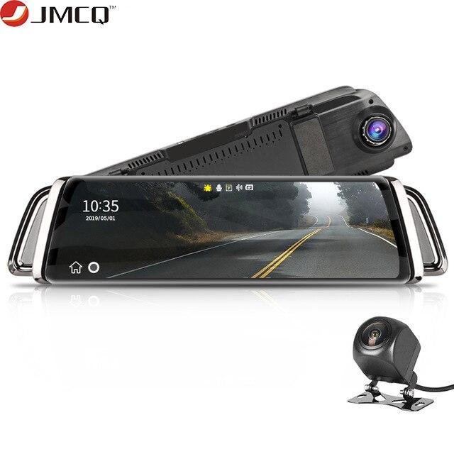 Córrego espelho retrovisor do carro dvr traço câmera avtoregistrator 10 ips tela sensível ao toque completo hd 1080 p carro dvr traço cam visão noturna