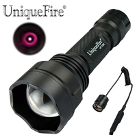 UniqueFire Mini Hunting Flashlight UF 1505 IR 850nm Tactical Torch with Pressure Switch for Night Vision Lantern