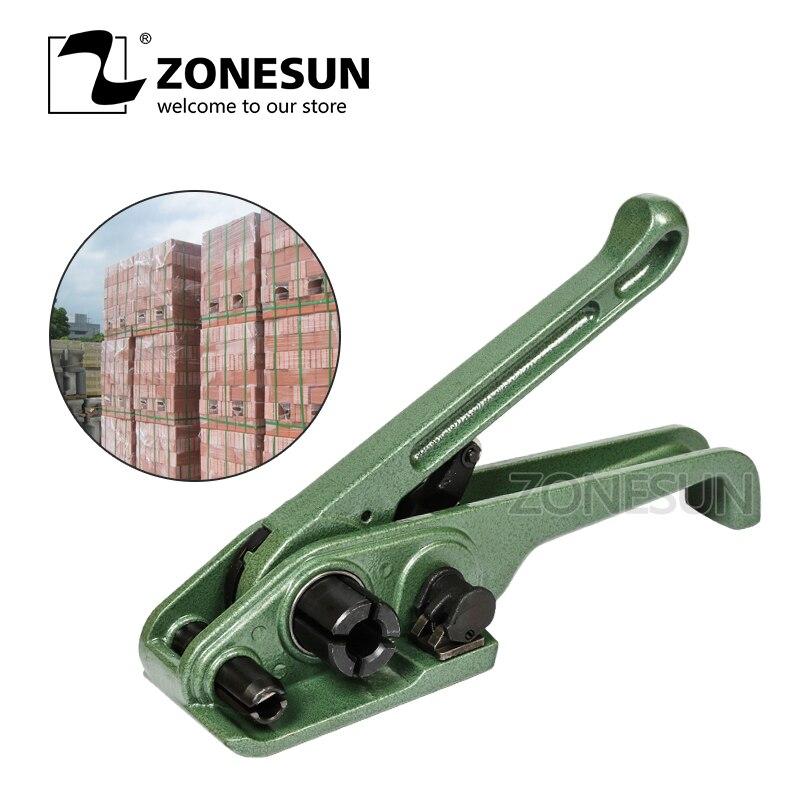 ZONESUN SD330 manuel Pet Pp outil de cerclage en plastique cercleuse pour 13/16/19mm Poly sangle pour brique Carton ensemble d'outils à main