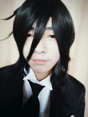 Anime Kuroshitsuji Black Butler Sebastian Michaelis Short Black Heat Resistent Cosplay Wig