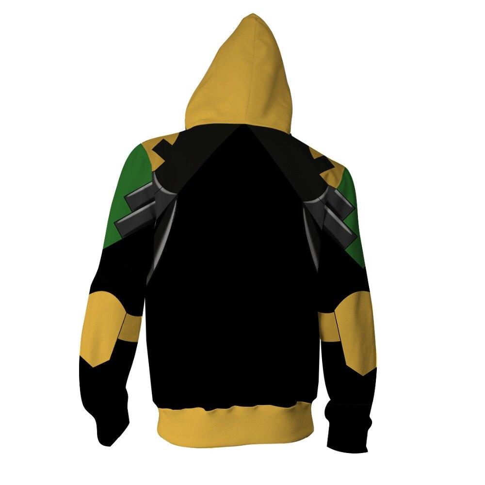 Huang Jianxia Sweatshirts Cosplay Captain America Costumes 3D printed fashion Autumn men and women hooded zippered jacket