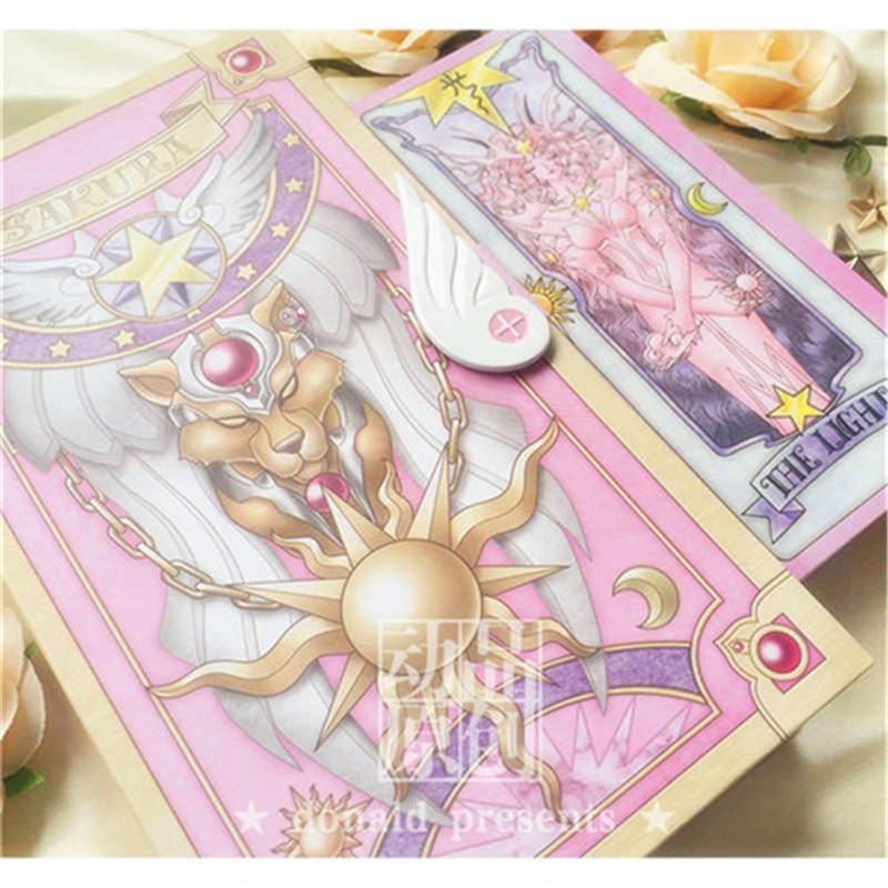 Оптовая продажа Card Captor Sakura 56 розовый карт или 53 красный карты с розовый Клоу Волшебная книга установить новые в коробке