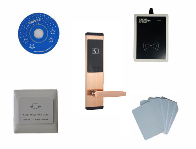T57 система устройств блокировки в гостиницах, включают T57 замок гостиницы, кодовый замок usb, энергосберегающий коммутатор, T57 карты, sn: CA 8063 kit