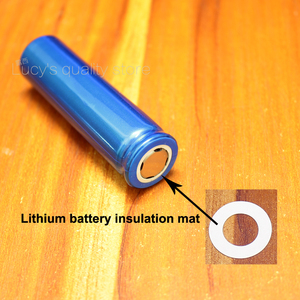Image 5 - 100 قطعة/الوحدة 18650 بطارية ليثيوم PET البلاستيك الإيجابية جوفاء لوحة العزل شقة الأصلي طوقا البطارية Accessories17 * 10.5*0.3