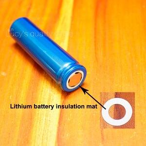 Image 5 - 100 Stks/partij 18650 Lithium Batterij Huisdier Plastic Positieve Holle Platte Isolatie Pad Originele Pakking Batterij Accessories17 * 10.5*0.3