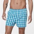 Underwear Men Boxer Shorts Cotton Brand Sexy Cueca Plus Size Boxer Homme Comfortable Casual Plaid Underwear Pants ZMF78452