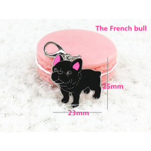 French Bulldog stainless steel accessories zipper