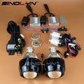 SINOLYN HID 2.5 дюймов Би ксенон Объектив Проектора Фар Комплект Black Кожухи H4 Фары Освещения Линзы Автомобиль Мотоцикл Мини WST H7
