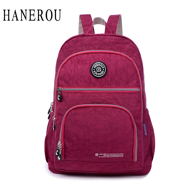 2017 Fashion Waterproof Nylon Female Backpack Women Preppy Style School Bags For Girls Big Capacity Travel Backpack Sac A Dos new 65l nylon large capacity multifunctional backpack high quality waterproof travel bags designer rucksack sac a dos mochila