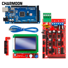 3D Printer Parts Excellent Mega 2560 R3 Mega2560 REV3 +RAMPS 1.4 Controller +RAMPS1.4 LCD 12864 LCD for arduino kit hot sale 3d printer kit 12864 lcd ramps smart parts ramps 1 4 controller control panel lcd 12864 display monitor motherboard blu