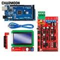 Piezas de impresora 3D excelente Mega 2560 R3 Mega2560 REV3 + rampas 1,4 controlador + RAMPS1.4 LCD 12864 LCD para arduino kit