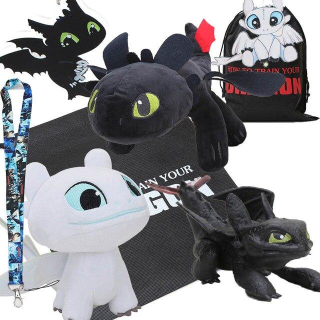 How to Train Your Dragon desdentado 3 Branco Dragão Fúria da Noite Brinquedo de Pelúcia Macia Bicho de pelúcia Boneca de Brinquedo