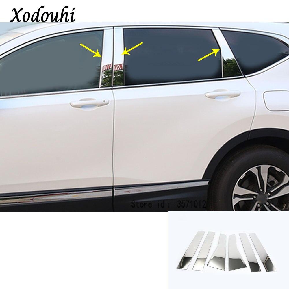 Stainless Steel Chrome Door Window Pillar Post Trims Fit For Honda ...
