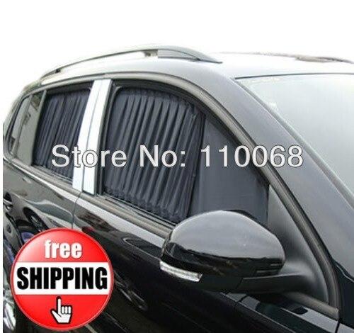2Pairs/Lot Car curtains For Skoda Octvia Fabia  Nissan Tida Teana Livina sylphy Mesh Aluminum Car accessories