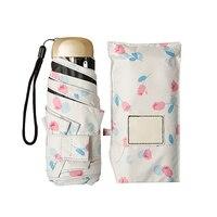 Guarda Chuva Mini Anti Uv Folding Parasol Garden Cover Cute Beach Pocket Smal Sun Umbrella Rain Women Rain Umbrellas 50C0007